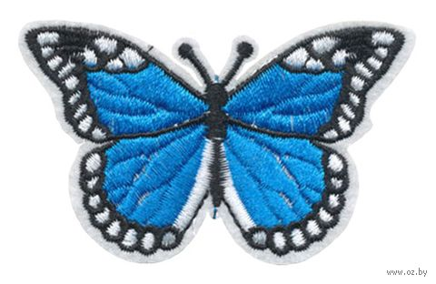 "Термоаппликация ""Бабочка синяя"" — фото, картинка"