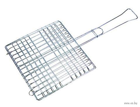 Решетка-гриль металлическая раскладная прямоугольная (30х30 см)