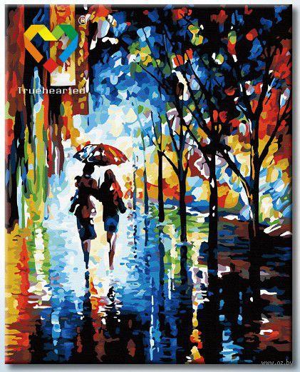 "Картина по номерам ""Прогулка под дождем"" (400x500 мм; арт. HB4050113)"