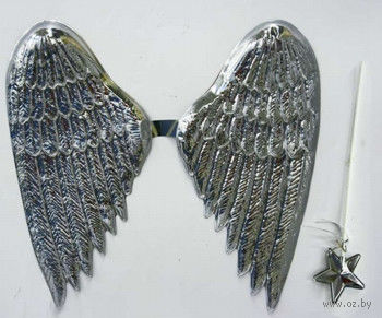"""Карнавальный набор """"Ангел"""" (крылья, нимб, жезл) — фото, картинка"""