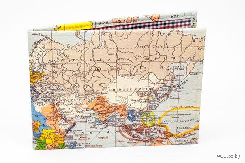 """Обложка для зачетной книжки """"Карта мира"""" — фото, картинка"""