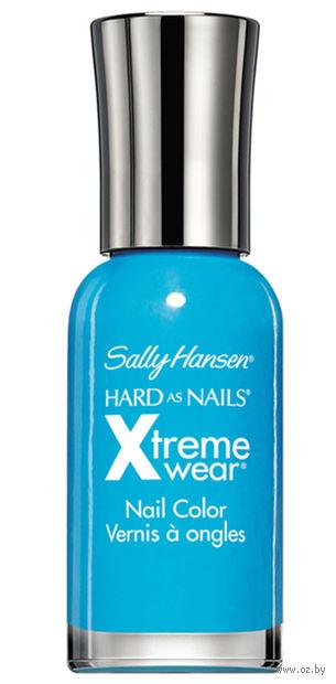 """Лак для ногтей """"Hard as nails xtreme wear"""" (тон: 130, ярко-голубой) — фото, картинка"""