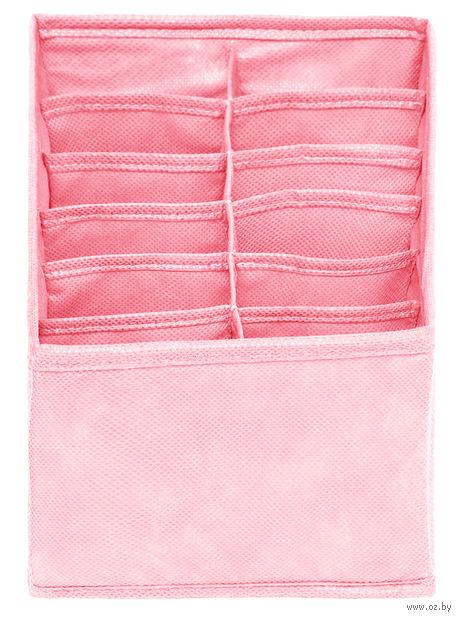 """Органайзер для белья """"Pink"""" (320х160х110 мм; 12 ячеек) — фото, картинка"""