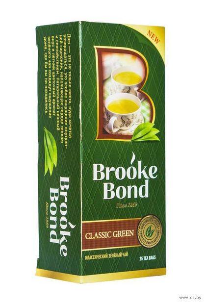 """Чай зеленый """"Brooke Bond. Классический"""" (25 пакетиков) — фото, картинка"""