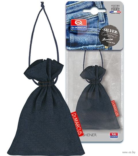 "Ароматизатор подвесной сухой ""Dr.Marcus Denim Fresh Bag"" (Silver; арт. 24290) — фото, картинка"