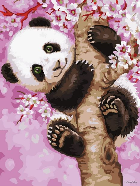 "Картина по номерам ""Медвежонок панды"" (300х400 мм) — фото, картинка"