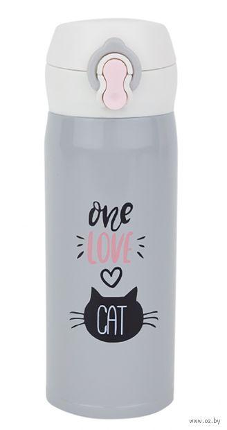 "Термос ""One love cat"" 0,35 л — фото, картинка"
