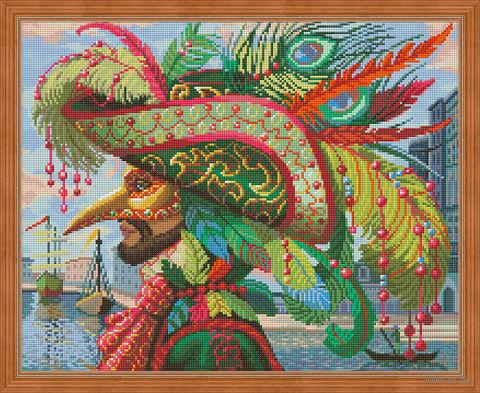 "Алмазная вышивка-мозаика ""Капитан на карнавале"" (500х400 мм) — фото, картинка"