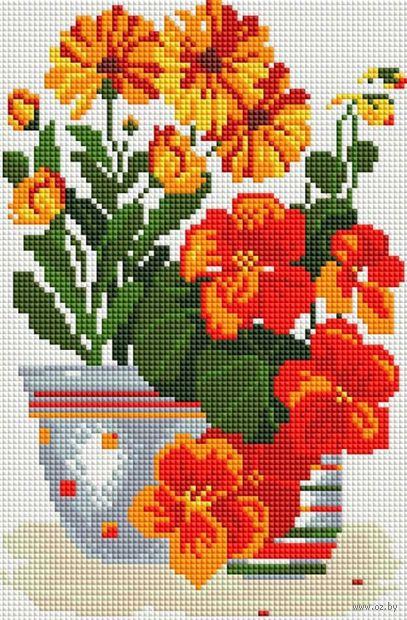 """Алмазная вышивка-мозаика """"Солнечные цветы"""" (200х300 мм) — фото, картинка"""