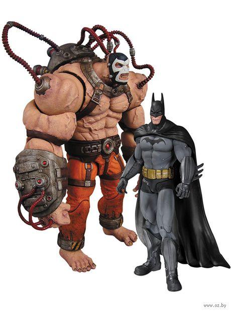 """Набор фигурок """"Бэтмен. Лечебница Аркхэм. Бэтмен и Бэйн"""". 2 в 1 (25 см) — фото, картинка"""
