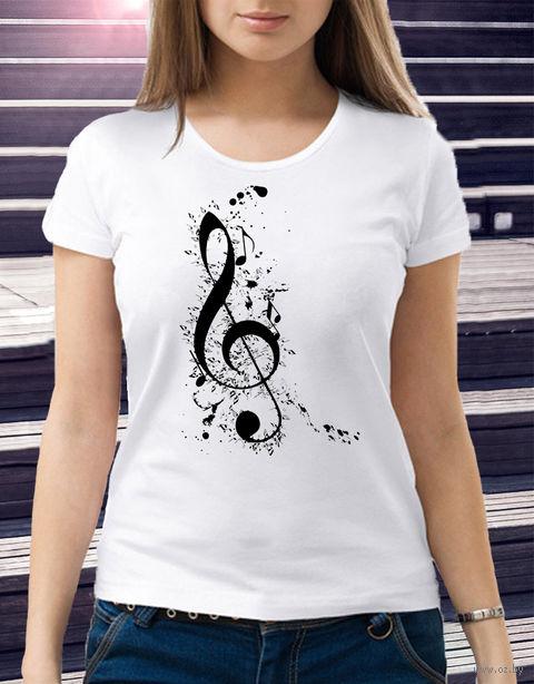 "Футболка женская ""Music"" (размер 44; арт. 4) — фото, картинка"