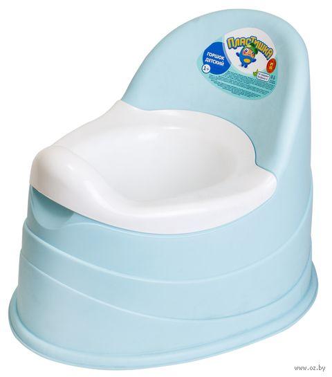 Горшок пластмассовый детский (голубой) — фото, картинка