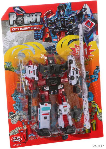 """Робот-трансформер """"Огнеборец. 5 в 1"""" (арт. Л22504)"""