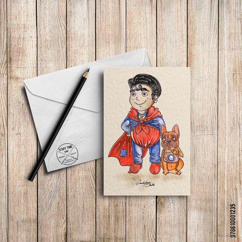 "Открытка ""Супермэн"" (арт. 235) — фото, картинка"