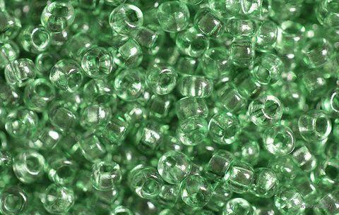 Бисер прозрачный №01163 (серо-зеленый; 10/0) — фото, картинка