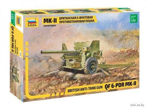 """Сборная модель """"Британская 6-футовая ПТ пушка Мк-II"""" (масштаб: 1/35) — фото, картинка"""