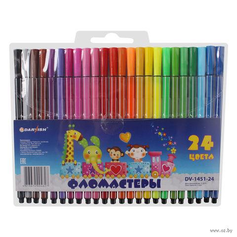 """Фломастеры """"Darvish"""" (24 цвета; арт. DV-1451-24)"""