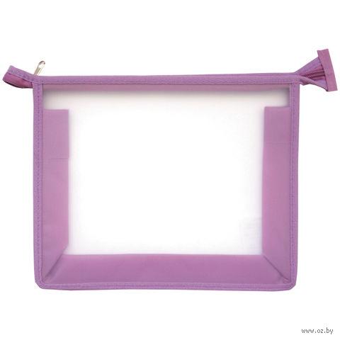Папка для тетрадей на молнии (сиреневая)