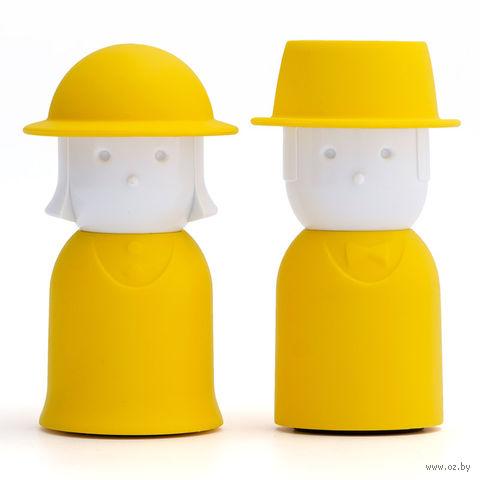 """Солонка и перечница """"Mr.Pepper & Mrs. Salt"""" (желтый)"""