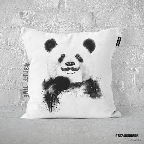 """Подушка """"Панда с усами"""" (арт. 506) — фото, картинка"""