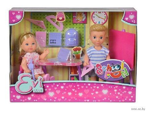 """Набор кукол """"Эви и Тимми на уроке"""" — фото, картинка"""
