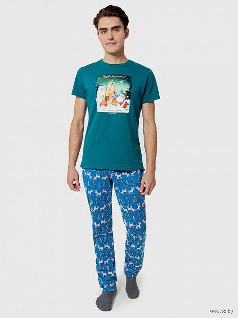 """Пижама мужская """"591015"""" (зелёный) — фото, картинка"""