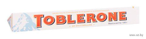 "Шоколад белый ""Toblerone. White"" (100 г) — фото, картинка"