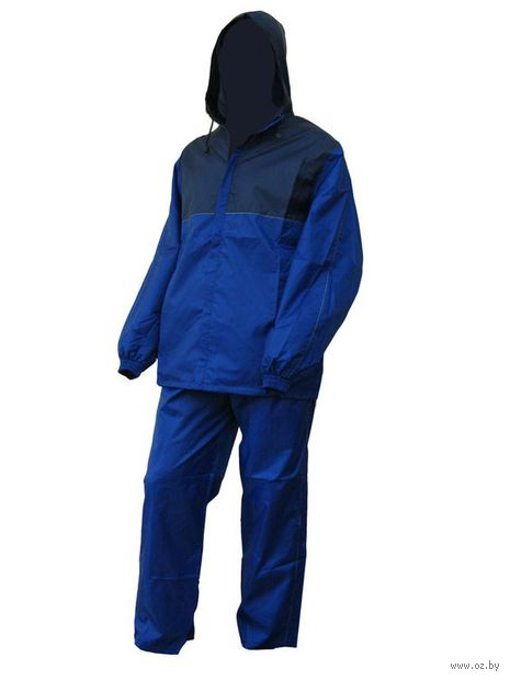 Костюм влаговетрозащитный (темно-синий/васильковый, размер 48, рост 182 см)
