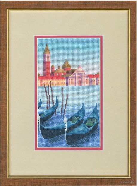 """Вышивка крестом """"Вечер в Венеции"""" (166х113 мм) — фото, картинка"""