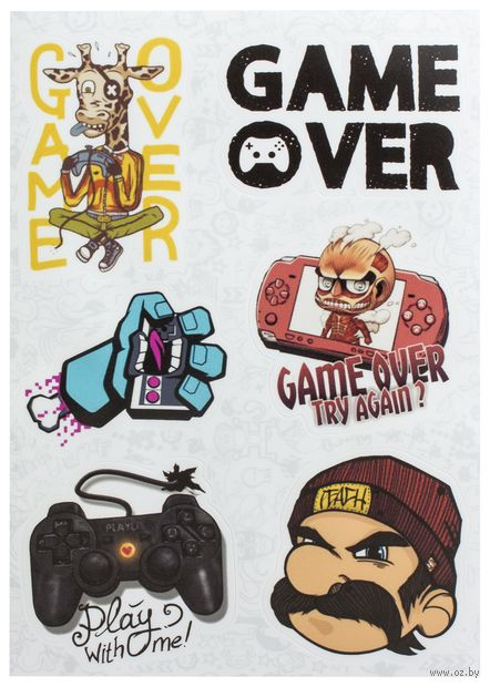 "Набор виниловых наклеек №81 ""Gamer"" — фото, картинка"