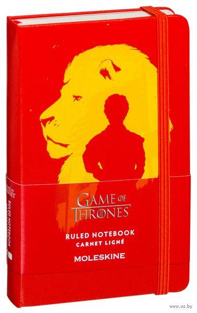 """Записная книжка в линейку """"Game of Thrones"""" (А6; красная) — фото, картинка"""