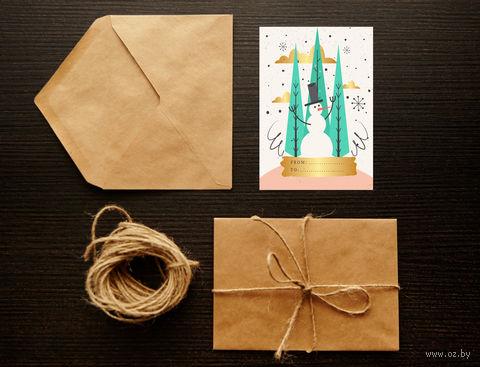 "Открытка ""Merry Christmas. Happy New Year"" (art. 21)"