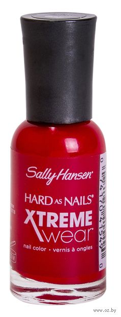 "Лак для ногтей ""Hard as nails xtreme wear"" (тон: 175, ярко-красный) — фото, картинка"