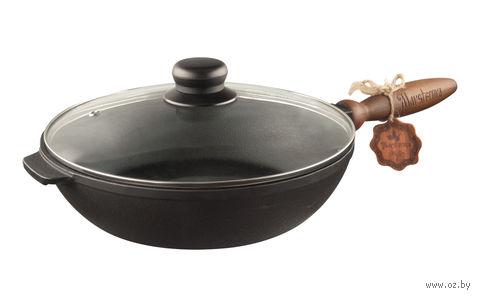 Сковорода чугунная с крышкой, 24 см (арт. Т240-60-02к) — фото, картинка