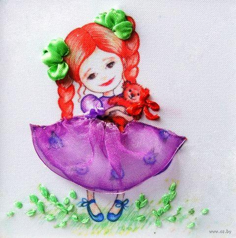 "Вышивка лентами ""Девочка"" (135х135 мм; арт. ВЛДС0005) — фото, картинка"