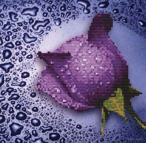 "Алмазная вышивка-мозаика ""Сиреневая роза"" (250х250 мм) — фото, картинка"