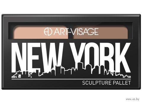 "Палетка для скульптурирования лица ""New York"" тон: 801 — фото, картинка"
