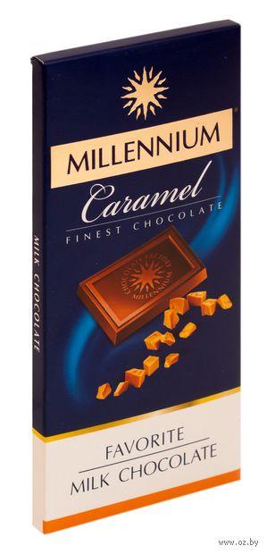 """Шоколад молочный """"Millennium. Caramel"""" (100 г) — фото, картинка"""