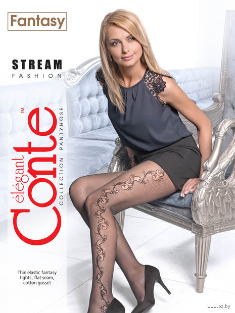 "Колготки женские фантазийные ""Conte. Stream"""