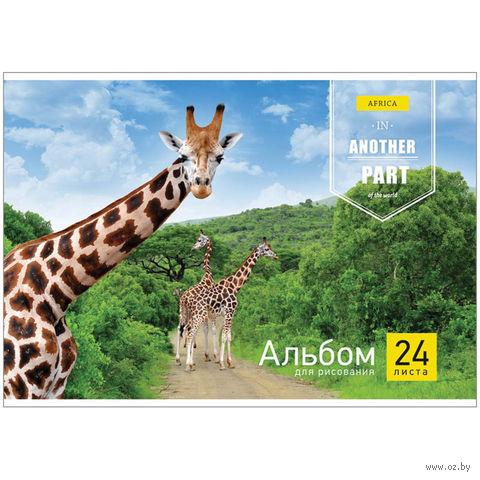 """Альбом для рисования А4 """"Животные. Another Part of the World"""" (24 листа)"""