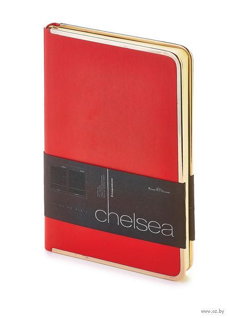 """Ежедневник недатированный """"Chelsea"""" (A5; красный) — фото, картинка"""