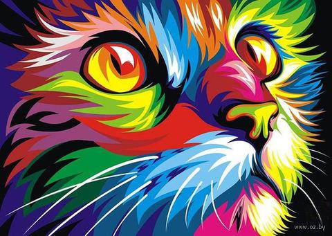 "Картина по номерам ""Ваю Ромдони. Радужный кот"" (400х500 мм) — фото, картинка"