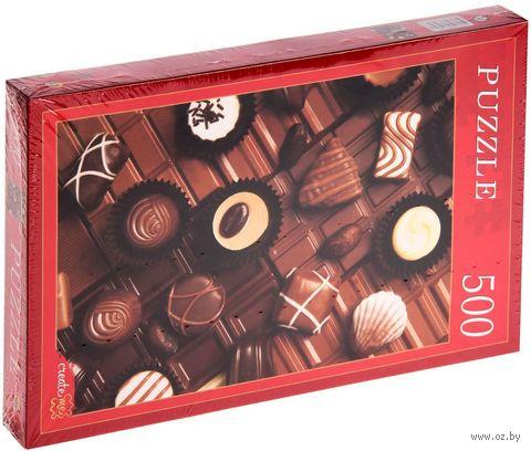 """Пазл """"Набор шоколадных конфет"""" (500 элементов) — фото, картинка"""