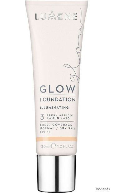 """Тональный крем для лица """"GLOW FOUNDATION ILLUMINATING"""" тон: 3, fresh apricot — фото, картинка"""