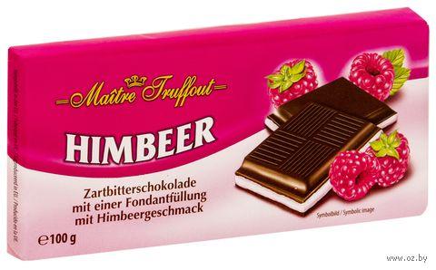 """Шоколад темный """"Himbeer. С малиновым кремом"""" (100 г) — фото, картинка"""