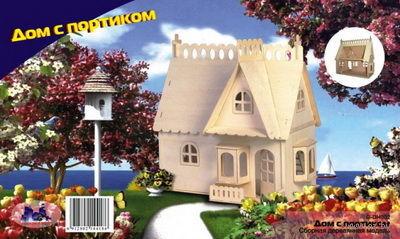 """Сборная деревянная модель """"Дом с портиком"""" (малый) — фото, картинка"""