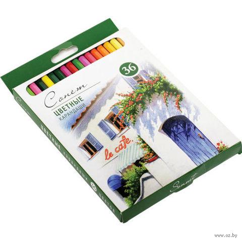 """Цветные карандаши профессиональные """"Сонет"""" (36 цветов)"""