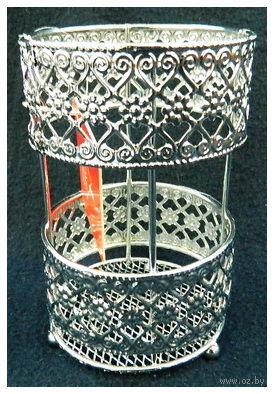 Подставка для столовых приборов металлическая (140х90 мм)
