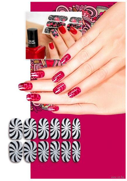 """Наклейки для дизайна ногтей """"Гипноз"""" (6 шт.) — фото, картинка"""
