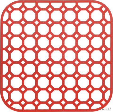 Коврик для раковины пластмассовый (260х260 мм) — фото, картинка